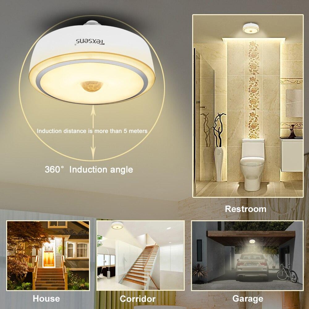 Texsens LED Motion Sensor multifonction Nuit Lumière 12 w E27/E26 Automatique de Commutation D'inondation À L'intérieur Ampoule Nuit escaliers lumière