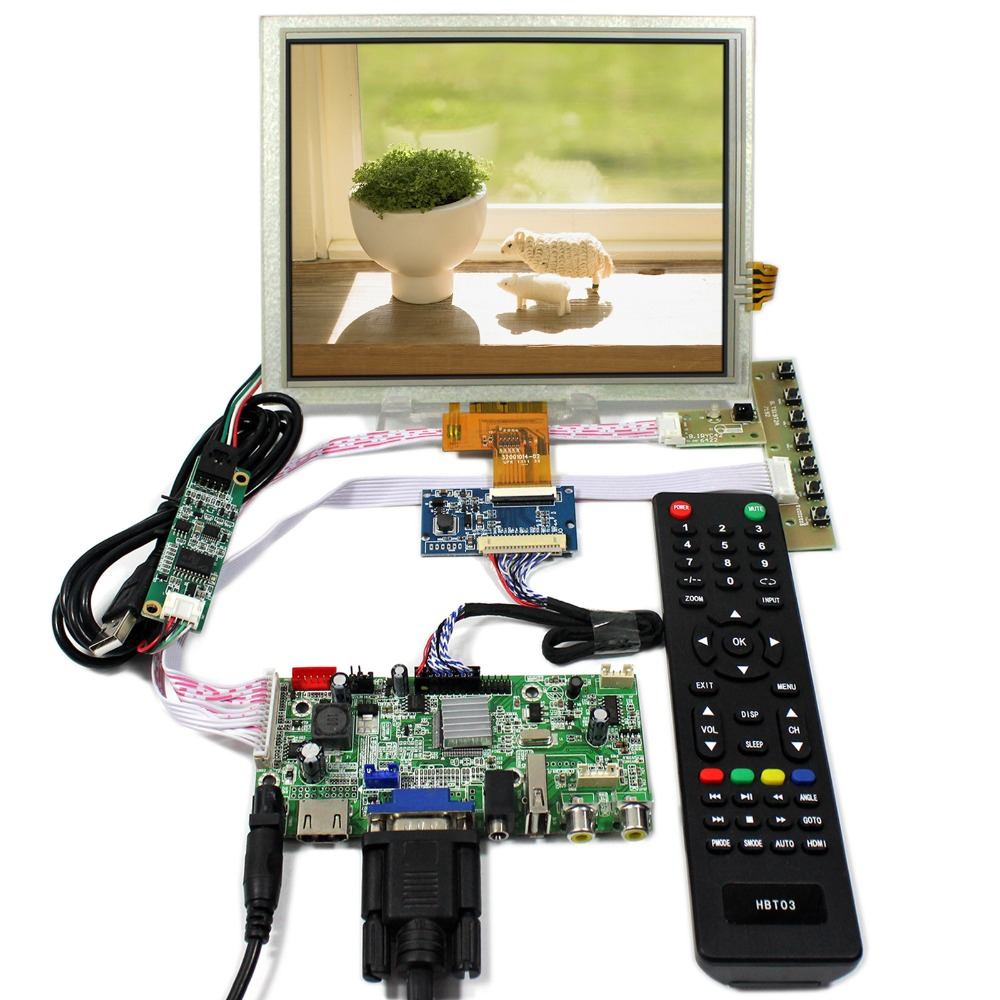 HDMI+VGA+AV+Audio+USB LCD Controller Board With 8inch 1024x768 EJ080NA-04C Touch LCD Panel hdmi vga av audio usb lcd controller board 8inch 800x600 ej080na 05a lcd screen