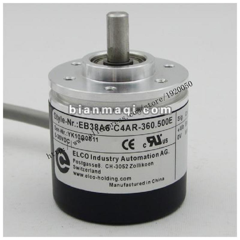 Elco ELCO EB38A6-C4AR-360.500E Rotary Encoder Solid Shaft 6mm 360 Line