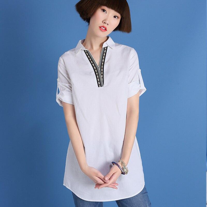 Marca original sllsky blusa mujeres de la camisa de algodón 100% 2017 del verano