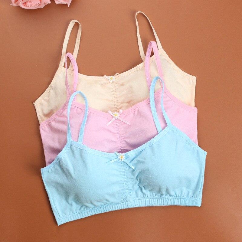 Young Girls First Training Bra Teenage Sport Puberty Girl Underwear Teen Child Fitness Bra 10-16Y Youth Small Breast Bra