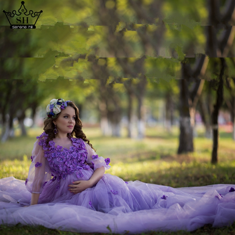 Mother Daughter Wedding Dresses Mum Mom and Baby Matching Clothes Purple Pink Rainbow Sister Matching Clothes Family Look Dress - 5