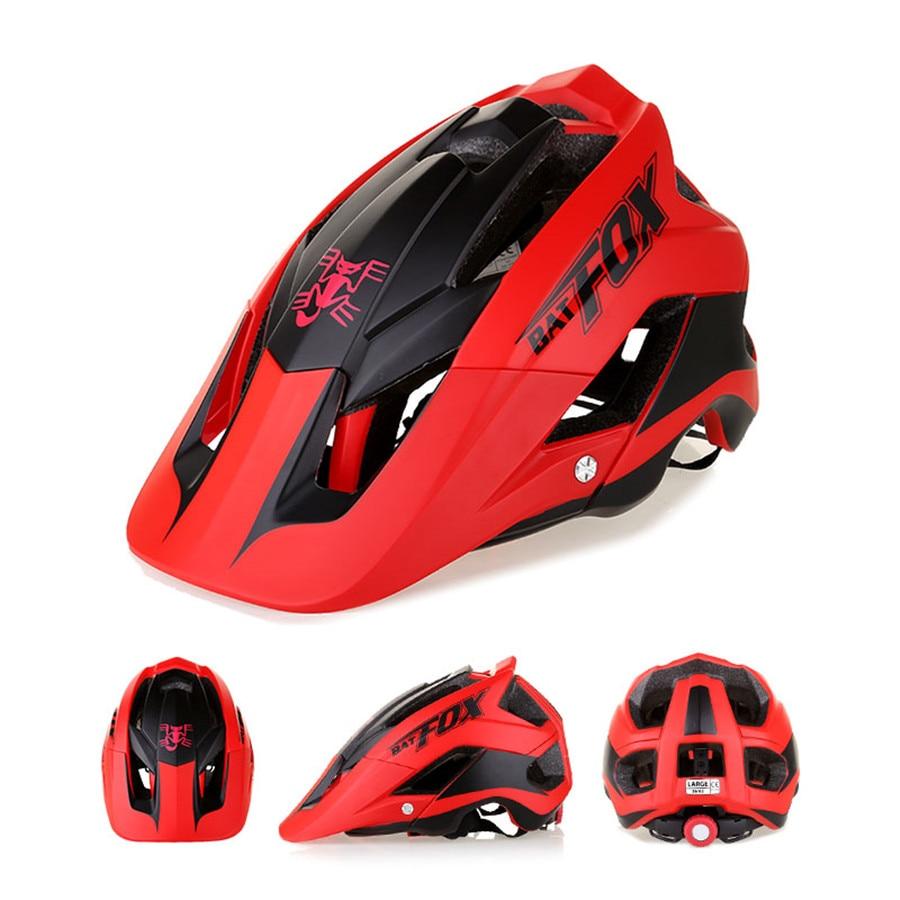 BATFOX Bicycle Helmet women men Adult helmet fox mtb Intergrally-molded casco ciclismo fiets helm capacete cycling helmet batfox