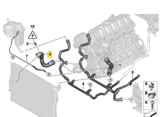 1 Piece Lower Radiator Hose For Bmw E90 E92 E91 17127531581 In