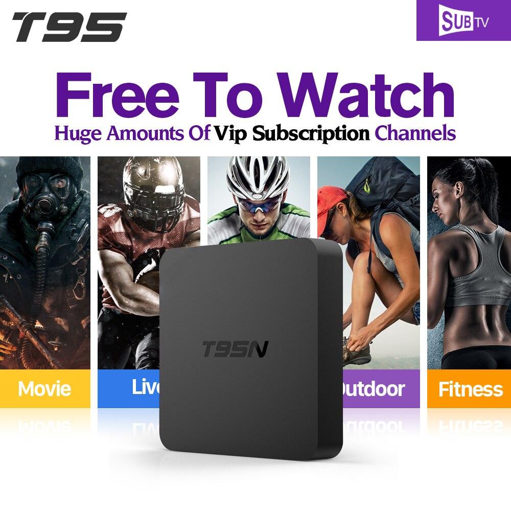 все цены на  1 Year Brasil French Arabic IPTV Box S905X Android 6.0 TV Box T95N SUBTV IPTV Account 3500 Live TV Europe Arabic Channels TV Box  онлайн