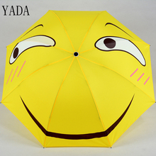 YADA New Custom Expression Cartoon Folding Rain Parasol Women uv High Quality Funny Umbrella For Windproof Umbrellas YS286