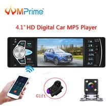 AMPrime Auto radio 1Din MP3 player Auto Radio Audio Stereo USB AUX FM Stazione Radio Bluetooth Con Telecamera Per La Retromarcia A Distanza di controllo