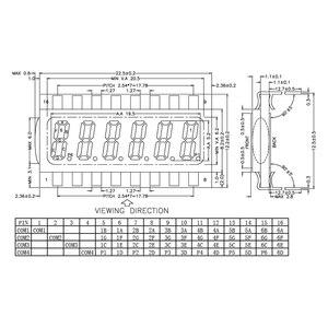 Image 2 - 16PIN TN 正 6 桁セグメント LCD パネル 3.3V バックライトなしデジタル管表示
