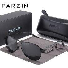 PARZIN Men Polarized Pilot Sunglasses Vintage Metal Frame High Quality Brand Designer Classic Driving Sun Glasses Male