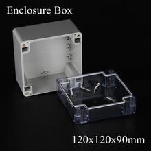 120*120*90 м Белый СВЕТОДИОДНЫЙ Драйвер Пластиковый Корпус Распределительная Коробка с прозрачной Прозрачной крышкой 120x120x90 ММ