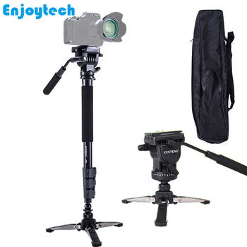 Professional Photography Monopod With Hydraulic Pan-tilt Head Gimbal For DV DSLR Mini Table Tripod With 3/8 Screw For Unipod