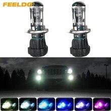 FEELDO 1Pair 35W HID Bi Xenon H4 9003 Hi Lo Beam HID Replacement Bulbs 4300K 12000K