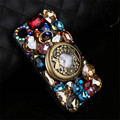Retro phone case for iphone 6 Retro Rhinestone Quality Luxury Bling Crystal Diamond pocket watch cover for 4s 5s 6s plus 7 plus