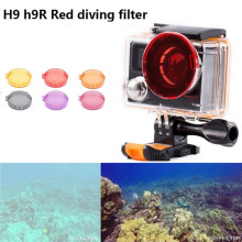 Diving Aqua Color Lens Filter for Eken H9R H8R Action Camera Waterproof Housing Case Red Yellow Lens Filters Camera Accessories