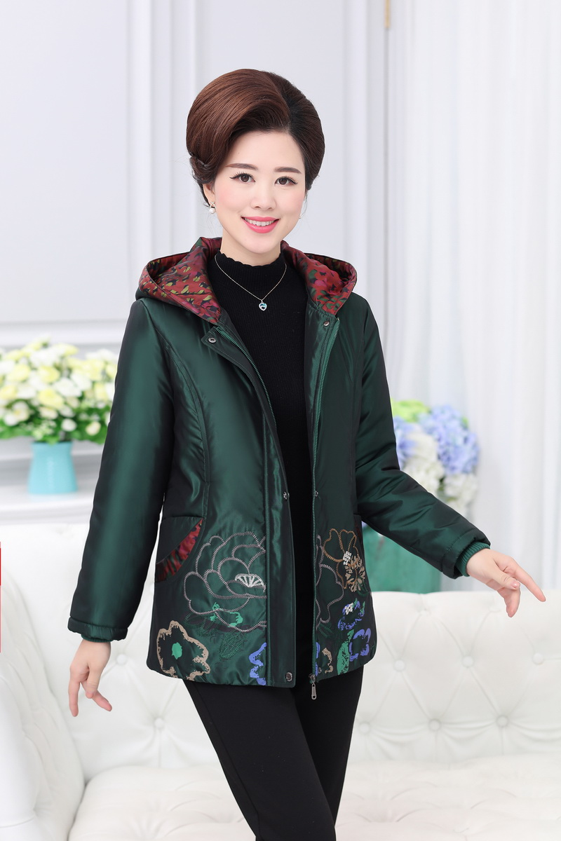 2017 In the elderly down jacket plus velvet thick fat big code mother old winter coat old lady coat 2017 60 year old 70 grandmother jacket in the elderly mothers installed women s winter 80 elderly lady down jacket