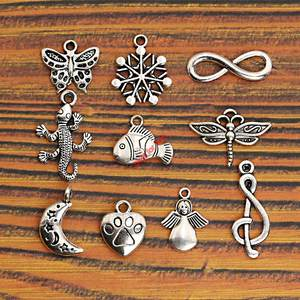 Findings-Accessories Pendants Angel Charm Snowflake Mixed Tibetan Silver Butterfly Moon