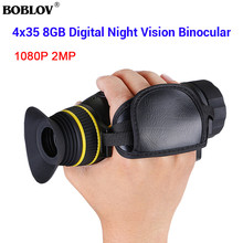 BOBLOV 4X35 Infrared Digital Night Vision Monocular 1080P 2MP Camera 8GB Video Recorder for Hunting Camping Outdoor