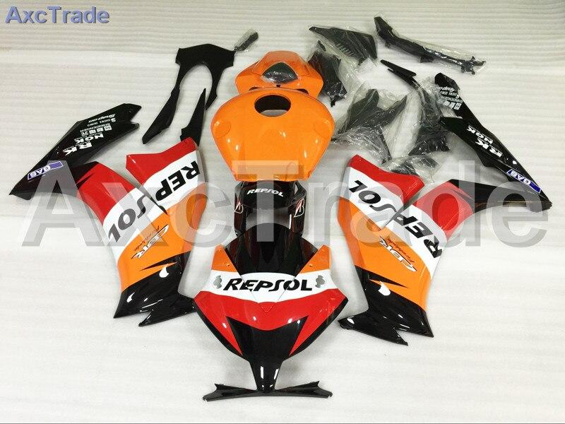 Мотоцикл Обтекатели для Honda CBR1000 CBR1000RR ЦБ РФ 1000 2012 2013 2014 12 13 14 пластичной Впрыски ABS обтекатель комплект желтый черный