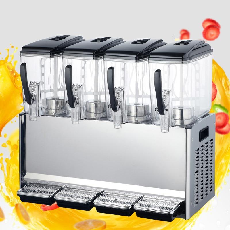Jamielin 12L *4 Cylinder Dispenser Cold And Hot Drink Machine Beverage Dispenser Juice Dispenser For Milk Tea Shop