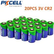 20 قطعة PKCELL 850MAH 3 فولت CR2 صور بطارية CR 15270 CR 15266 بطارية ليثيوم غير قابلة للشحن للكاميرا