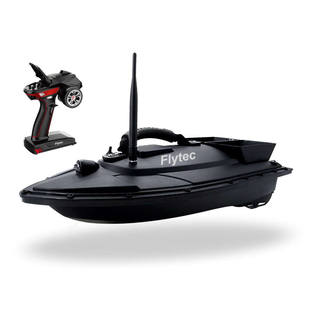 Flytec V500 5.4km/h Fishing Bait RC Boat 500M Remote Fish Finder 2-24h Using time Double Motor Outdoor Toy With Transmitter Gift