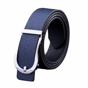 Cuir Ceintures hommes adultes Métal Boucle à Épingle Nouveau Casual Jeans Mâle Sangle taille élastique
