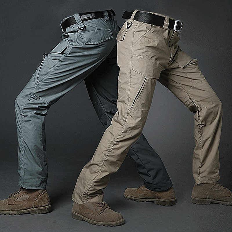GEJIAN City Military Tactical Cargo Pants  Male Casual Many Pockets Stretch Pants Pantalones Hombre Men SWAT Combat Army Trouser