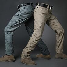 GEJIAN City wojskowe taktyczne spodnie w stylu cargo męskie na co dzień wiele kieszeni spodnie rozciągliwe Pantalones Hombre mężczyźni SWAT Combat Army Trouser tanie tanio Proste COTTON Midweight 2323 Pełnej długości Safari Style REGULAR Suknem Kieszenie Zipper fly Mieszkanie cargo pants men
