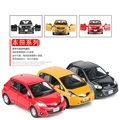 Boxed 5 inch simulation alloy car model Fit march yaris Strong pull back Two doors can be opened