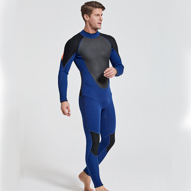 SBART Men's 3MM SBR Neoprene Wetsuit Scuba Diving Triathlon Spearfishing Snorkeling Surf Dive Suit Sportswear