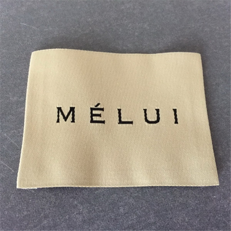 Custom woven labels washable clothing brand name label garment label woven tags