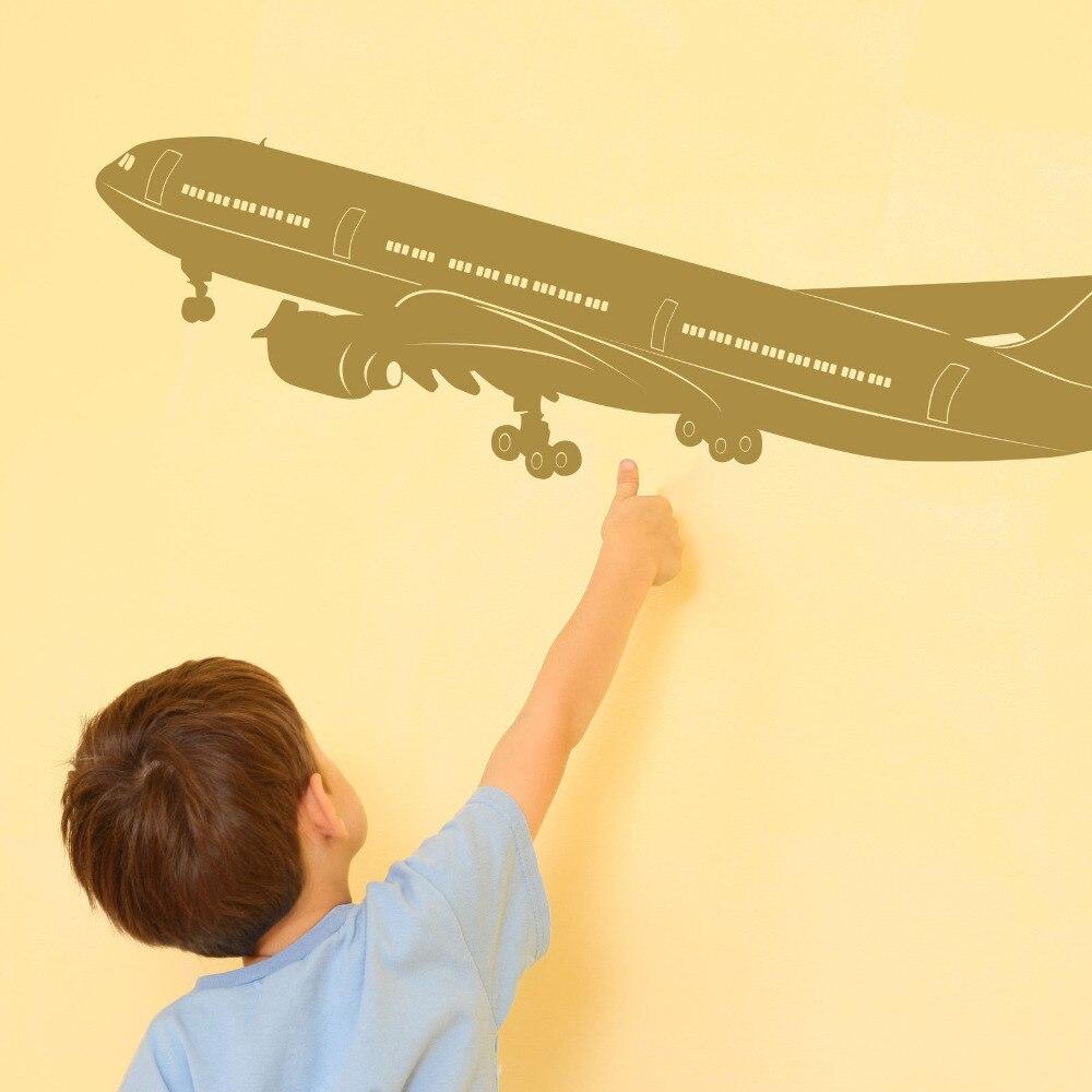 ⃝Boeing 777 A330 Aircraft Vinyl Wall Art Decal Sticker 14X50inch - a452