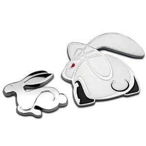 """Image 2 - 3D Металлическая Автомобильная наклейка с эмблемой """"Бегущий кролик"""", значок заднего багажника для VW Jetta Golf GTI Polo, универсальные автомобильные аксессуары, украшение автомобиля"""