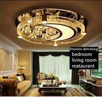 Iwhd Спальня Кристалл Потолочные светильники для Гостиная в форме полумесяца современный круглый потолочный светильник Lampara TECHO дома Освещен