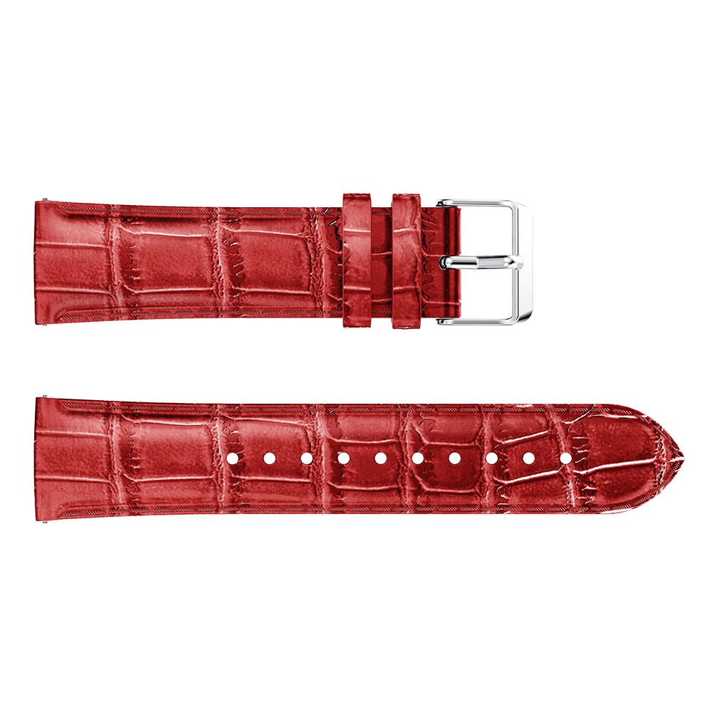 Crocodile Belt Straps For Xiaomi Huami Amazfit Bip BIT Lite Youth leather Smart Watch band for amazfit Bracelet 20mm Sports in Watchbands from Watches