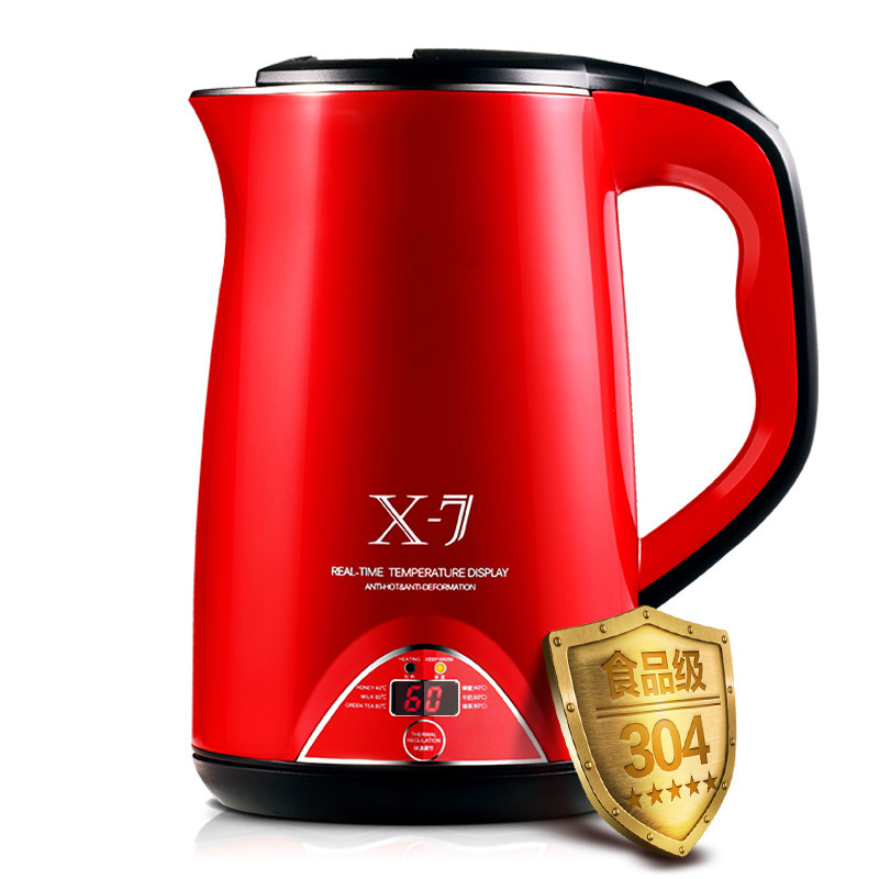 Electric kettle Insulated 304 stainless steel with full automatic power - off free shipping automatic power off of stainless steel electric kettle