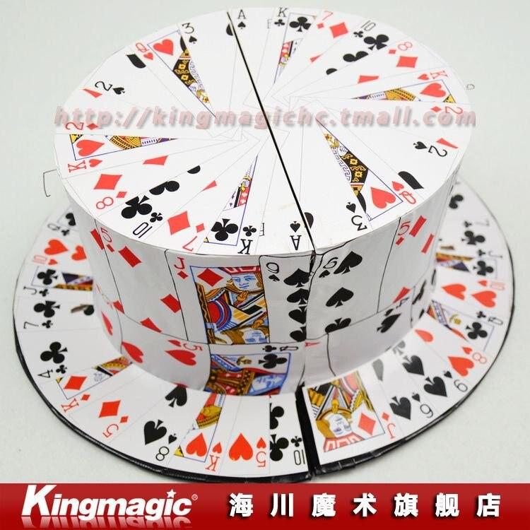 Livraison gratuite par CAPM! Ventilateur de carte à chapeau haut-de-forme/avec cadeau/bonne qualité/tours de magie de scène/accessoires de magie/jouets magiques/comme on le voit à la télé