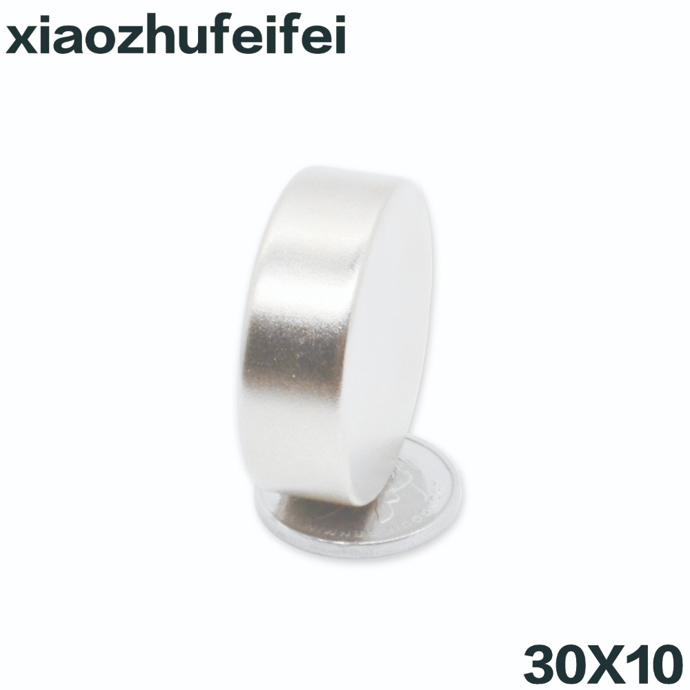 1pc 30*10 Super Powerful Strong Bulk Small Round NdFeB <font><b>Neodymium</b></font> Disc <font><b>Magnets</b></font> Dia 30mm x 10mm N35 Rare Earth NdFeB <font><b>Magnet</b></font> <font><b>30x10</b></font> image