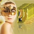 5 pares Natural cristalino del polvo del oro máscara de ojo, Anti envejecimiento elimina las ojeras y las líneas de expresión cuidado de la cara cuidado de la piel