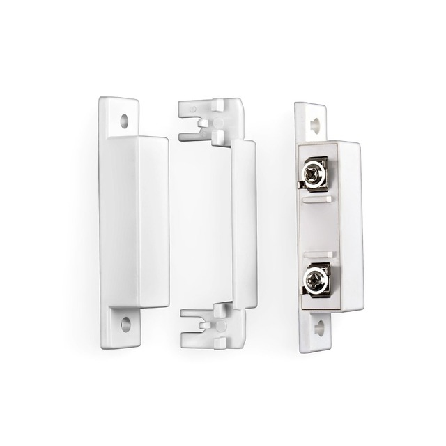 10pcs/lot Wired Door Window Magnetic Sensor Switch Work With PTSN and GSM Alarm System Wired zone KERUI 8218G G19 PG500 GSM10A