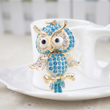Brands Charm Classic Gift Key Chain Holder Ring Car Keyring Jewelry Bag Pendant  Rhinestone Owl Women Keychain