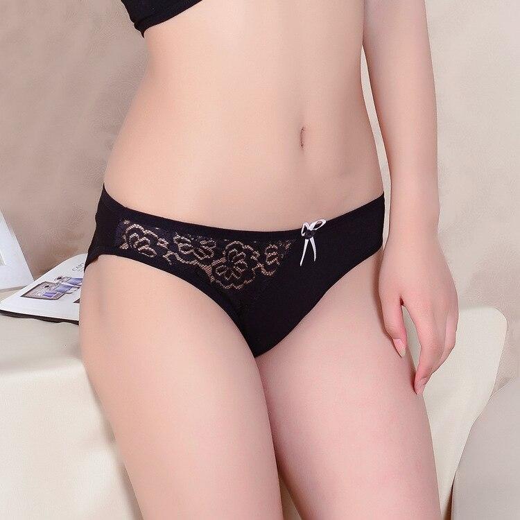Vente solide haute qualité femmes sous-vêtements à lanière dames slips bragas usine directe en gros Sexy dentelle coton femmes culottes