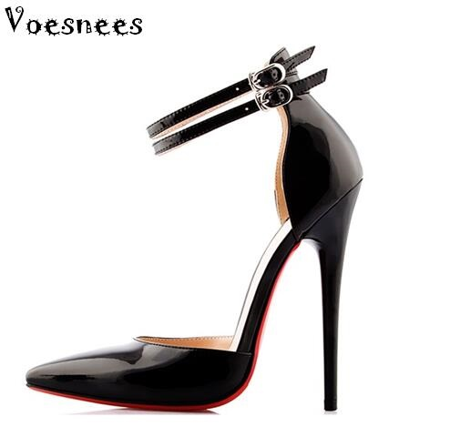 все цены на Spring and Autumn Pumps Super High 14cm High-heeled Shoes Woman Pointed Toe Thin Heel Shallow Mouth Office & Career Shoes в интернете