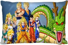 F11 Top Selling Dragon Ball Z Custom Zippered Rectangle Pillowcases Pillow Cover Cases Size 35x45cm (One Side)