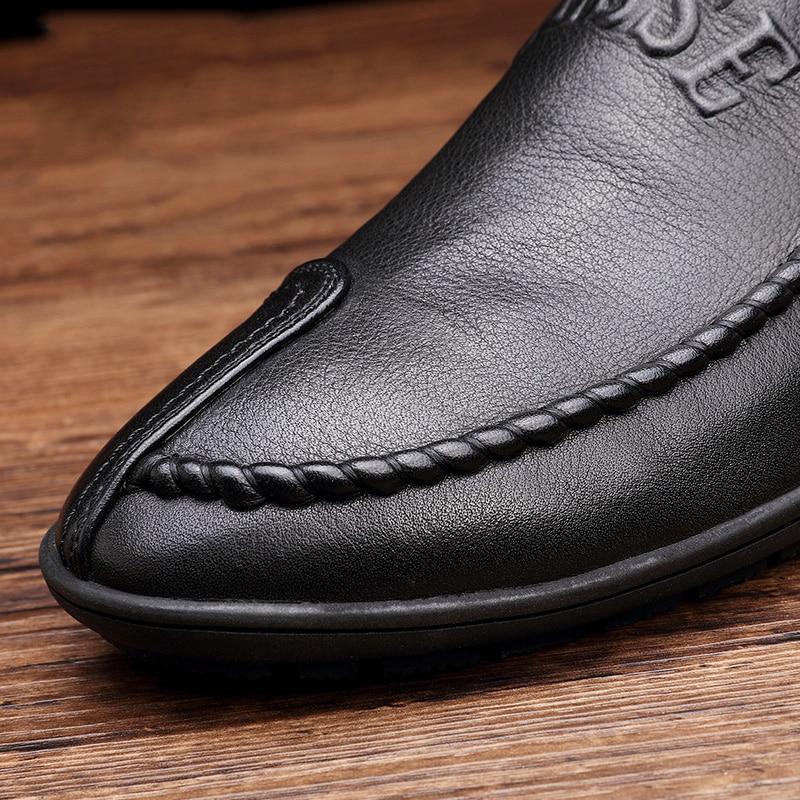 Удобные кожаные ботинки ручной - Мужская обувь - Фотография 5