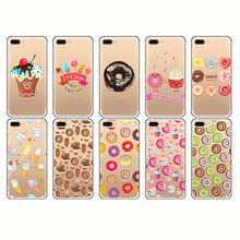 Cartoon Funny Food Donuts Chocolate Ice Cream Phone Cases Fundas For iphone 7 8 6 X PLUS Silicone 5s SE
