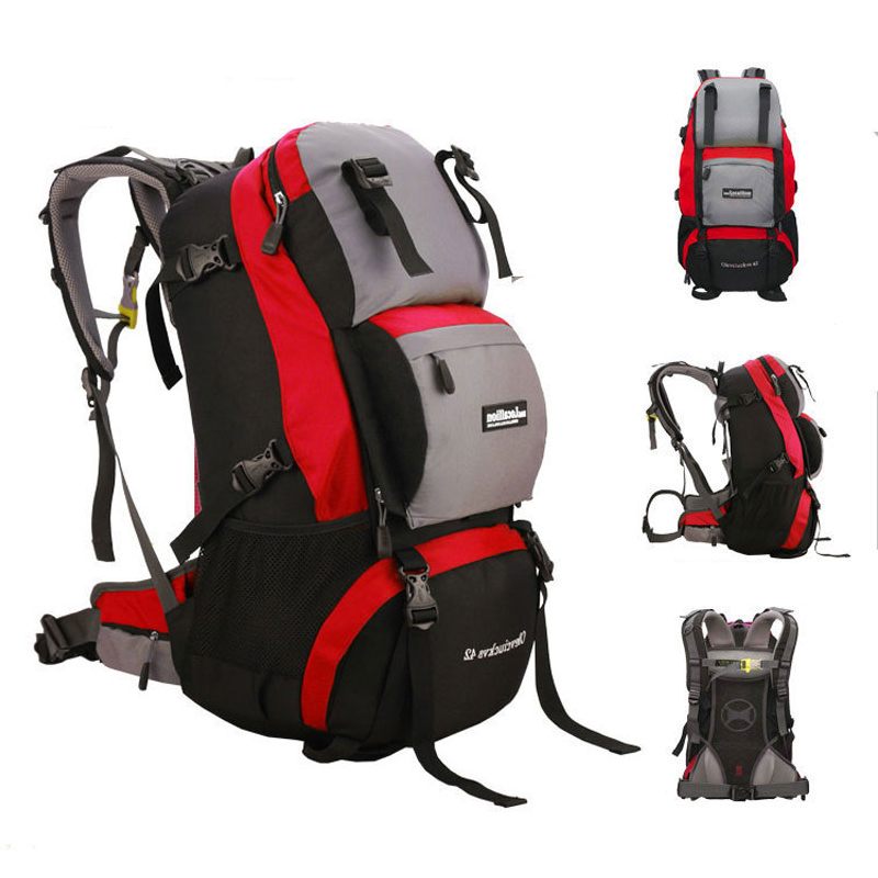 42L Professional Mountaineering Bags Waterproof Travel Backpack Hiking Climbing Backpack Outdoor Sport Backpacks with Rain cover-in Climbing Bags from Sports & Entertainment    2