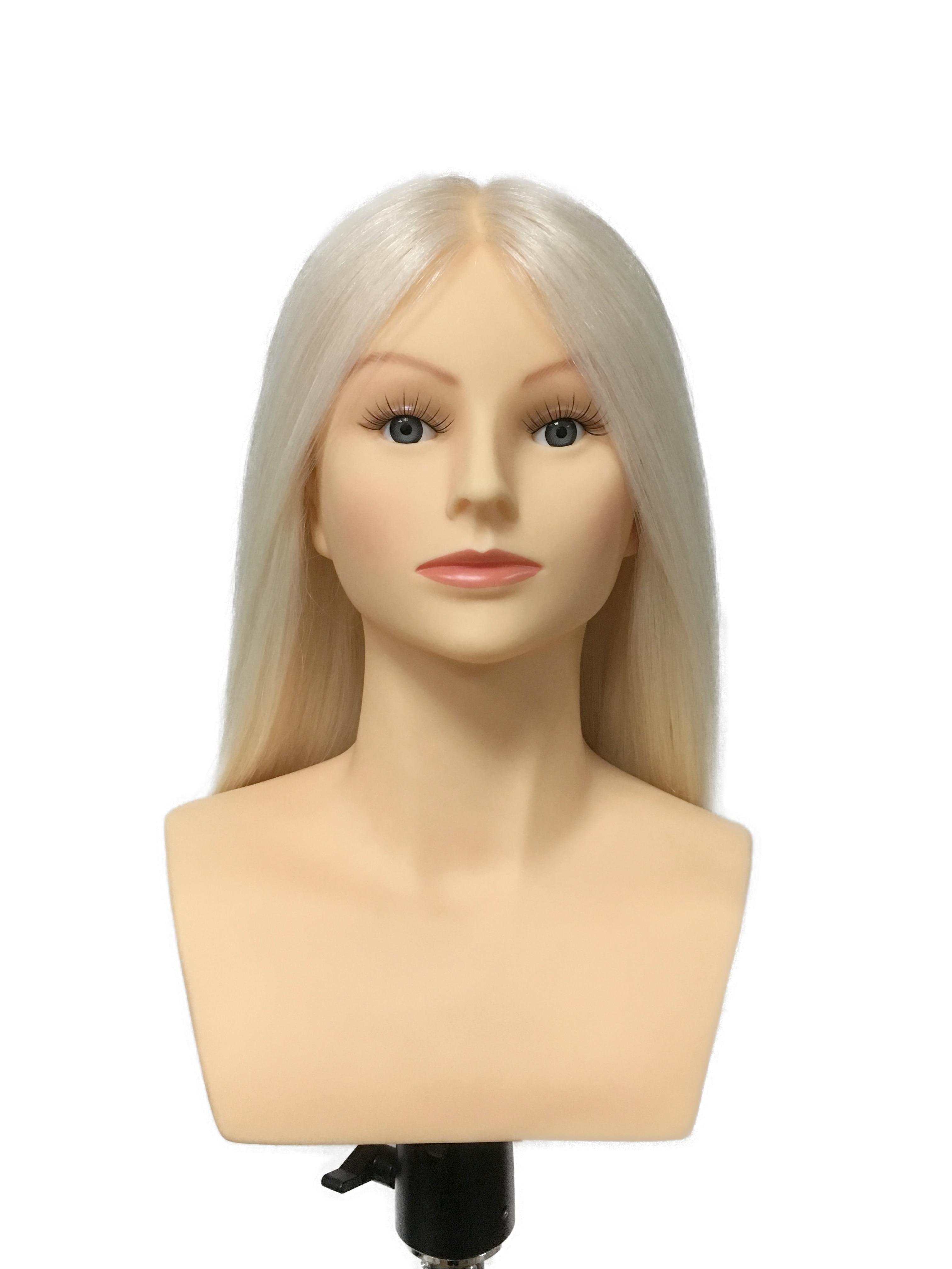 "Prohair omc 승인 40 cm 16 ""100% 화이트 염소 머리 경쟁 마네킹 머리 hairdressing 마네킹 인형 머리 미용사-에서마네킹부터 홈 & 가든 의  그룹 1"