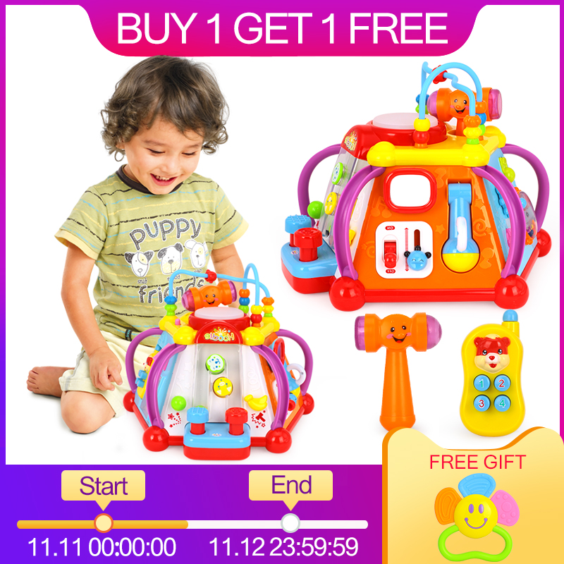 Juguetes del bebé feliz mundo pequeño rompecabezas Brinquedos para Bebe desarrollo juguetes de juego juguetes para niños regalos de navidad
