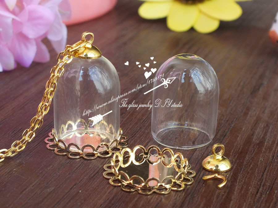 25x18mm mini glass cover crystal bottlehollow glass hand blown blown glass bottle pendant